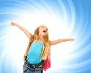 Children love the sound of their voice, especially when it echos.